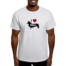 I Love My Corgi's Name T-Shirt