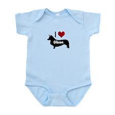 I Love My Corgi's Name Infant Bodysuit