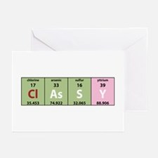 Chemistry Classy Greeting Cards (Pk of 10)