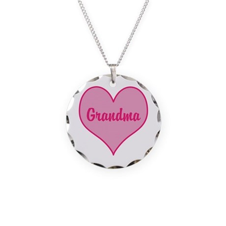 Grandma Necklace Circle Charm