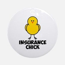 Insurance Chick Ornament (Round)