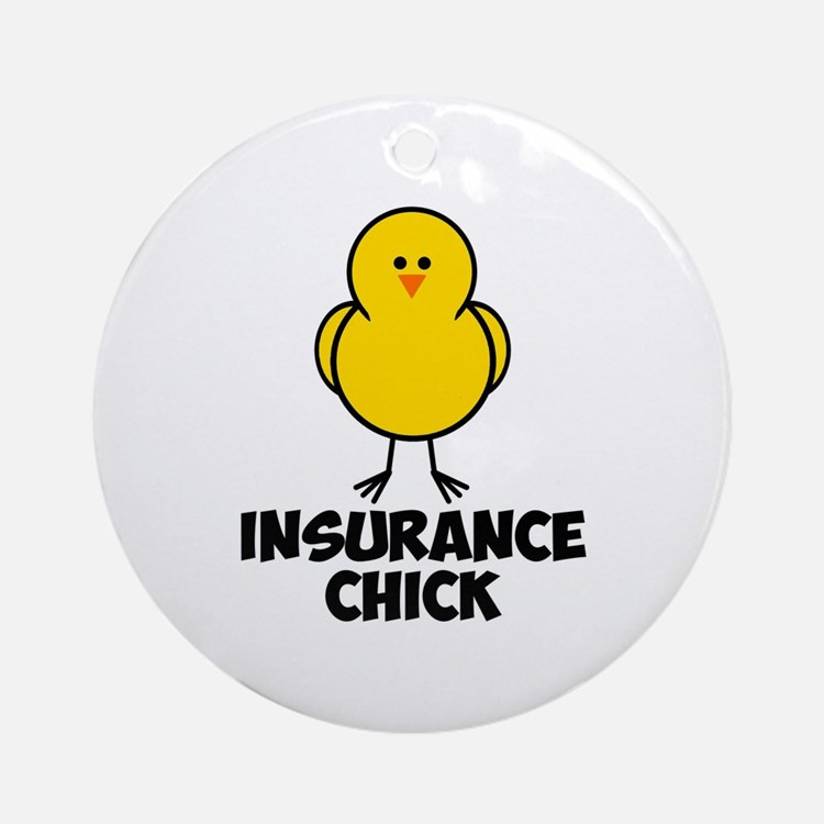Insurance Chick Ornament (Round)