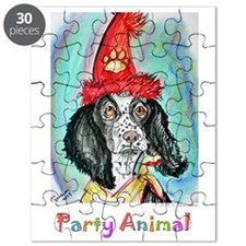 Party animal, fun, dog, art, Puzzle