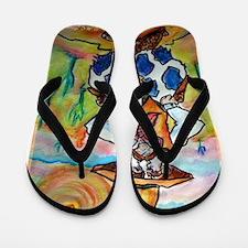 Cowboy, fun, colorful, Flip Flops