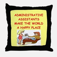 administrative assistant Throw Pillow