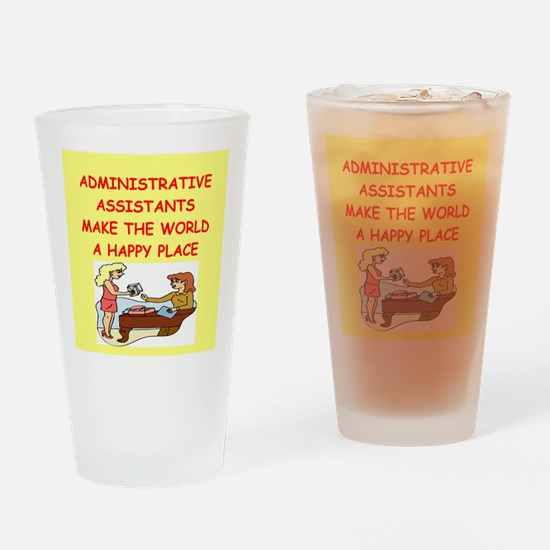 administrative assistant Drinking Glass