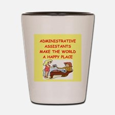 administrative assistant Shot Glass