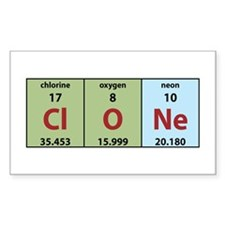 Chemistry Clone Rectangle Decal