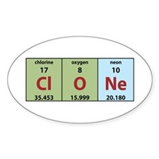 Chemistry Clone Oval Decal