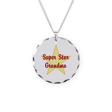 Super Star Grandma Necklace Circle Charm