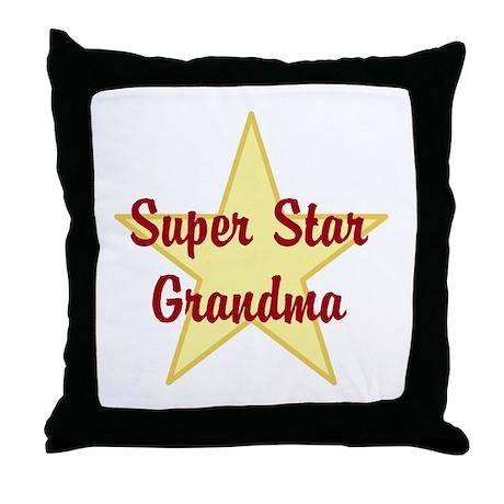 Super Star Grandma Throw Pillow