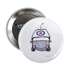 "Little Silver Car 2.25"" Button"