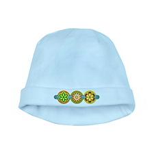 Retro Flowers baby hat