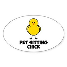 Pet Sitting CHick Decal