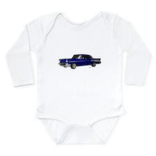 1957 Chevy Dark Blue Long Sleeve Infant Bodysuit