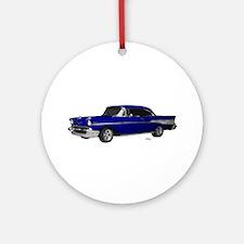 1957 Chevy Dark Blue Ornament (Round)