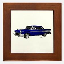 1957 Chevy Dark Blue Framed Tile