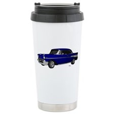 1957 Chevy Dark Blue Stainless Steel Travel Mug