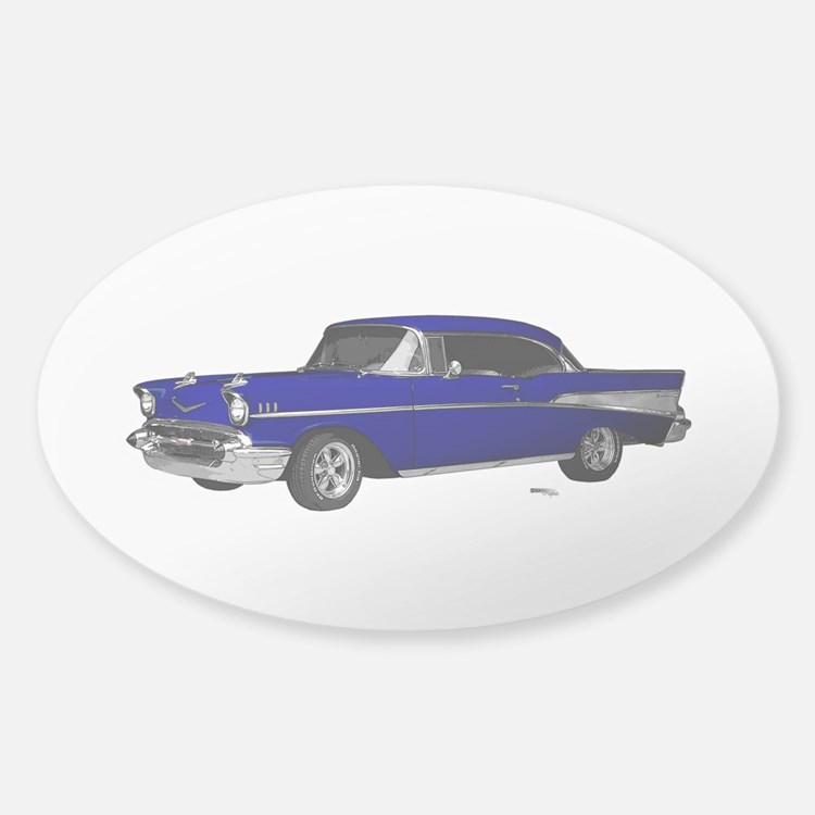 1957 Chevy Dark Blue Decal