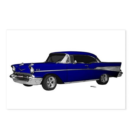 1957 Chevy Dark Blue Postcards (Package of 8)