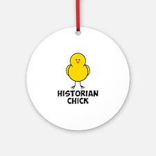 Historian Chick Ornament (Round)