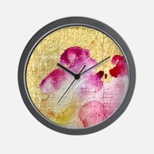 Fancy Vintage Floral Wall Clock