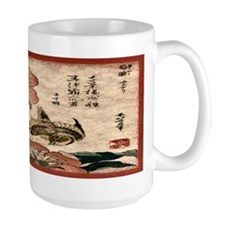 Sparrow and Lotus Mug