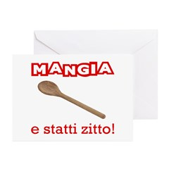 Mangia e Statti Zitto Greeting Cards (Pk of 20)