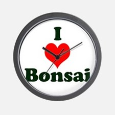 I Love Bonsai Wall Clock