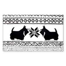 Scottish Terrier Holiday Swea Decal