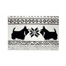 Scottish Terrier Holiday Swea Rectangle Magnet
