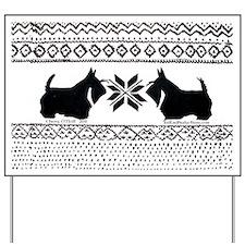 Scottish Terrier Holiday Swea Yard Sign