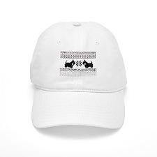 Scottish Terrier Holiday Swea Baseball Cap