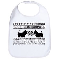 Scottish Terrier Holiday Swea Bib