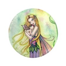"""Mother and Baby Fairy Fantasy Art by M 3.5"""" Button"""