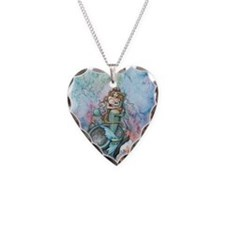 Mother and Baby Fairy Fantasy Necklace Heart Charm
