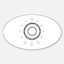 Circle of Fifths Sticker (Oval 10 pk)