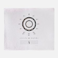 Circle of Fifths Throw Blanket