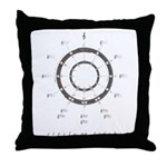 Circle of Fifths Throw Pillow