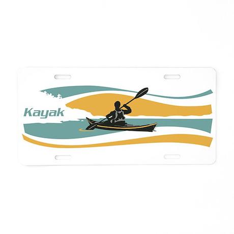 Kayak Sunrise Aluminum License Plate
