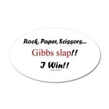 Gibbslaped I Win!! 22x14 Oval Wall Peel