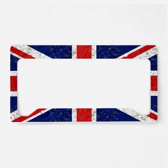 Vintage Grunge UK Flag License Plate Holder