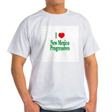 I Love NM Progressives Ash Grey T-Shirt