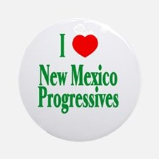 I Love NM Progressives Ornament (Round)