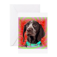 German Wirehaired Pointer Greeting Card