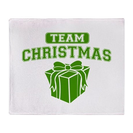 Green Team Christmas Throw Blanket