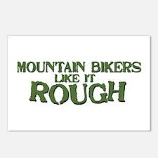 Mt. Bikers Like it Rough Postcards (Package of 8)