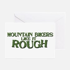 Mt. Bikers Like it Rough Greeting Cards (Package o
