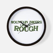 Mt. Bikers Like it Rough Wall Clock