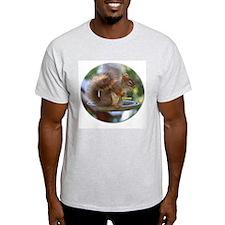 Red Squirrel I Ash Grey T-Shirt